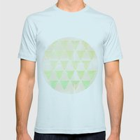 Hazy Dream Mens Fitted Tee Light Blue SMALL