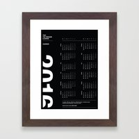 2016 Calendar | Dark Framed Art Print
