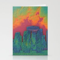 Stonehenge on Fire Stationery Cards
