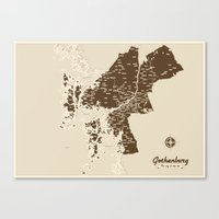 Gothenburg - The City & … Canvas Print