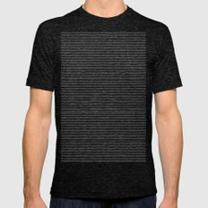 Lines Mens Fitted Tee Tri-Black SMALL