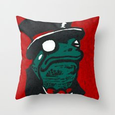 Duke Croakington Throw Pillow