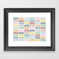 Rainbow Shutter Shades Framed Art Print