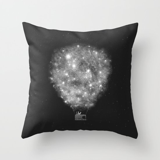 Supernova Sky Ride Throw Pillow