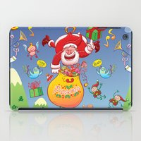 Santa has a Zeppelin to Deliver Christmas Gifts iPad Case