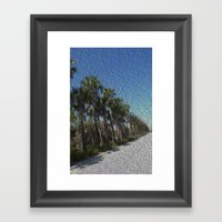 Infinite Palm Trees Framed Art Print