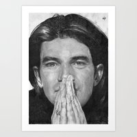 Antonio Banderas Traditional Portrait Print Art Print