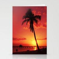 Romantic Sunset Stationery Cards