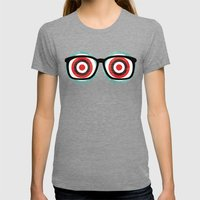 bullseyes Womens Fitted Tee Tri-Grey SMALL