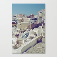 Streets of Santorini II Canvas Print