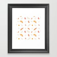 Watercolor Autumn Framed Art Print