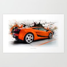 Cars: Lamborghini Superl… Art Print
