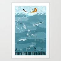 Life Of Pi (Fishing) Art Print