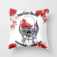 Motordead Throw Pillow