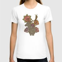 Dear Deer Womens Fitted Tee White SMALL