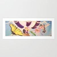 Magical Ballon Ride Art Print