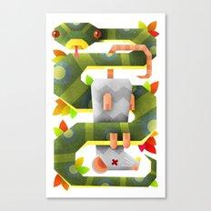 Caught Canvas Print