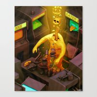 Abduction Of The Arcade … Canvas Print