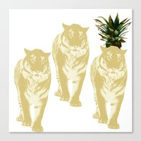 Pineapple tiger Canvas Print