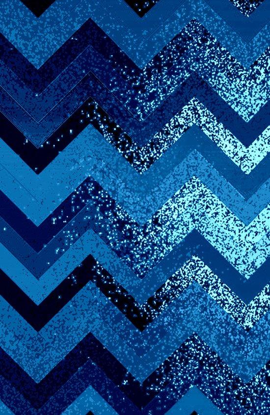 sparkly and dark blue adventure Art Print