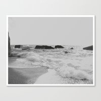 Greek Seascape - Black A… Canvas Print