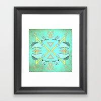 Aztec swan Framed Art Print