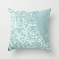 The Ocean's Glow Throw Pillow
