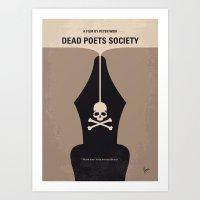 No486 My Dead Poets Society minimal movie poster Art Print