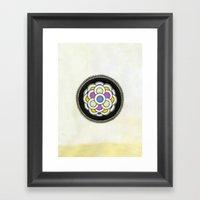 Stack Of Glasses On A Ta… Framed Art Print