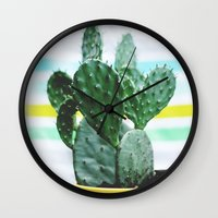 Summer Succulent Wall Clock