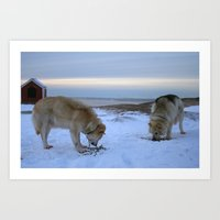 Ilulissat Greenland: The land of dog sleds and Midnight Sun Art Print