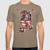 BOMBS AWAY BOWSER Mens Fitted Tee Tri-Coffee SMALL