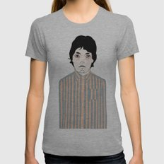 Stripes Womens Fitted Tee Athletic Grey SMALL