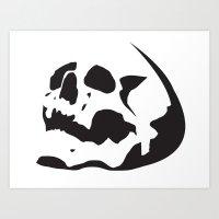 Skull Stencil Art Print
