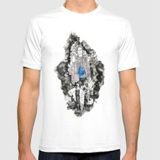 Haunted SMALL White Mens Fitted Tee