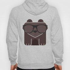 Hipster Bear Art Print Hoody