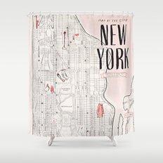 Kate Spade - New York Map Shower Curtain