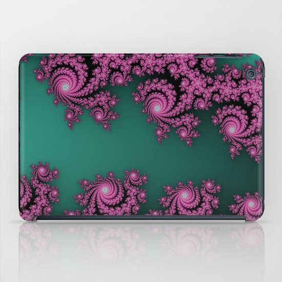 Fractal in Dark Pink and Green iPad Case