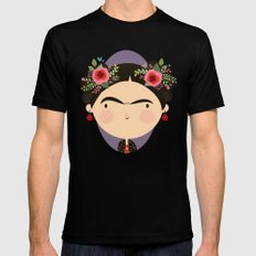 Frida Black Mens Fitted Tee SMALL