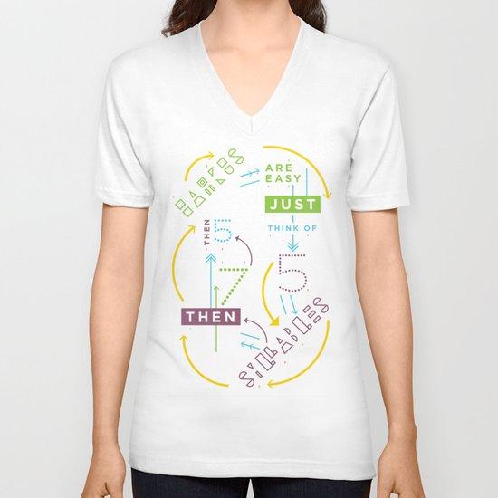 Haikuglyphics - Haikanics V-neck T-shirt