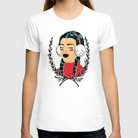 Winter Girl II Womens Fitted Tee White SMALL