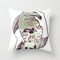 handskull Throw Pillow