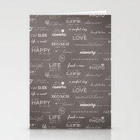Life On A Chalkboard Stationery Cards