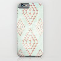 Mint & Coral Tribal Patt… iPhone 6 Slim Case