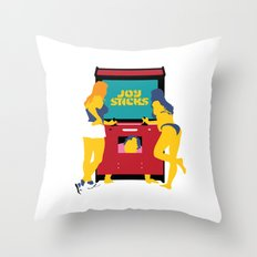 Joy Sticks Throw Pillow