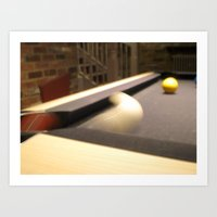 Que Ball Corner Pocket Art Print
