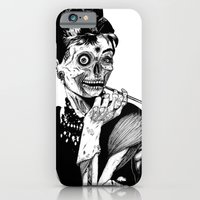 iPhone Cases featuring Zombie at Tiffany's by Marion Cromb