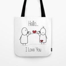 Hello I Love You Tote Bag