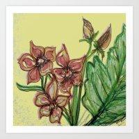Mellow Mauve And Mellow … Art Print