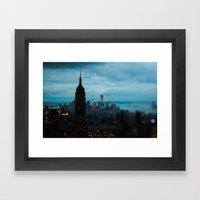 Skyline New York Framed Art Print